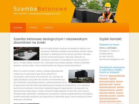 Szambo betonowe szambabetonowex.pl