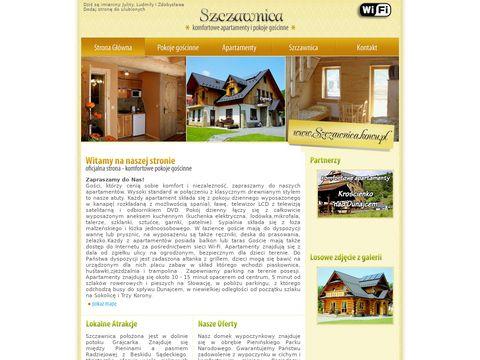 Przytulne pokoje i apartamenty w Szczawicy