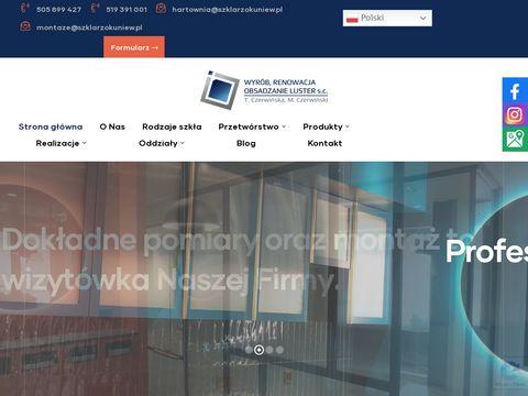Wyrób luster T.M. Czerwińscy ściany szklane warszawa
