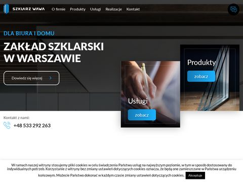 Szklarz Warszawa - Usługi szklarskie w Warszawie i okolicy