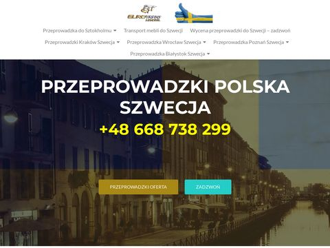 Przeprowadzki Polska Szwecja - tani transport mebli Skandynawia