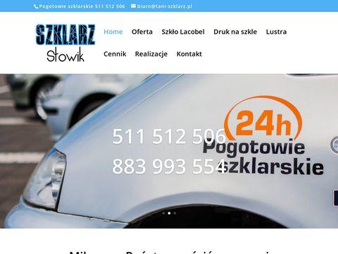 Tani-Szklarz.pl Szkło do kuchni-panel szklany-ekran szklany-lacobel