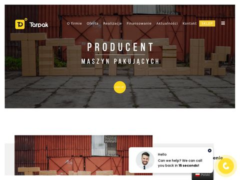 Tarpak.pl - urz膮dzenia pakuj膮ce