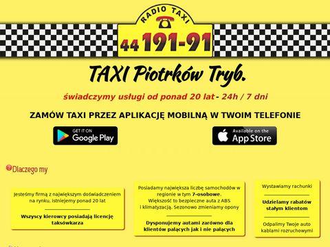 Taxi osobowe Piotrk贸w Tryb.