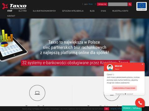 Taxxo e-biuro rachunkowe 鈥� dobre biuro rachunkowe dla sp贸艂ki z dost臋pem przez Internet