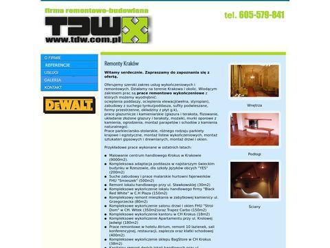 TDW - remonty i wykończenia wnętrz