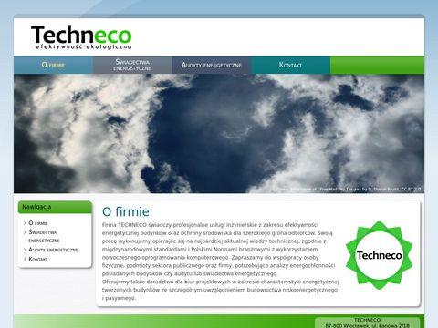 Techneco - Analiza energetyczna w budownictwie