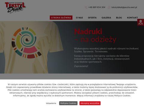 Www.tekstyldruk.com.pl nadruki na odzież