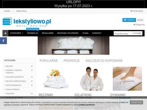 Tekstyliowo.pl - Tekstylia hotelowe
