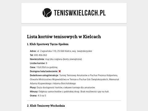 Tenis w Kielcach i okolicach - Å›wiÄ™tokrzyskie