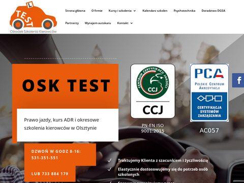 Www.testosk.pl badania za punkty karne