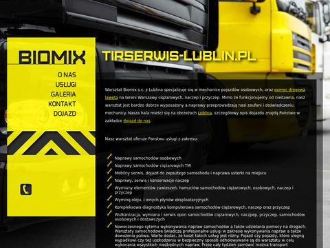 Warsztat Biomix Lublin serwis samochod贸w ci臋偶arowych, osobowych, diagnostyka i wulkanizacja