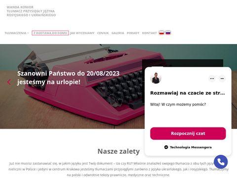 Tłumacz przysięgły rosyjski Kraków - Tlumaczalnia.pl