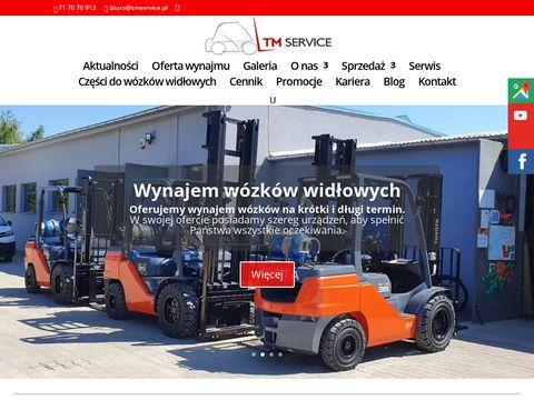 Www.tmservice.pl wózki widłowe