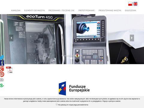 Zakład Przetwórstwa Kamilena �ódź - frezowanie CNC, toczenie CNC.