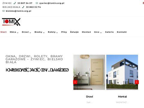 Okna drzwi rolety   Tomix-OKNA Bielsko Biała Żywiec
