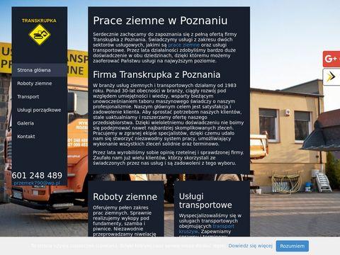 Transkrupka wykopy Poznań