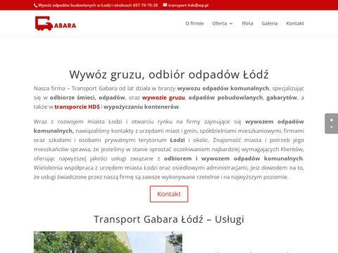Wyw贸z odpad贸w budowlanych transport-gabara.pl