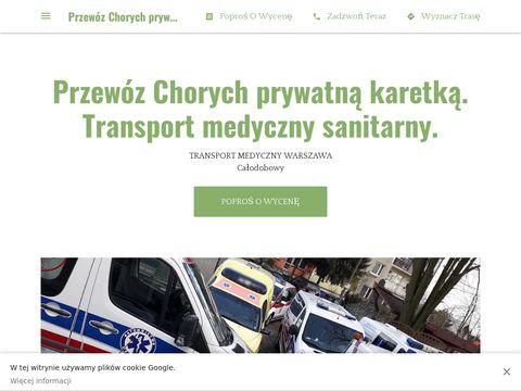 Przew贸z Chorych prywatn膮 karetk膮. Transport medyczny