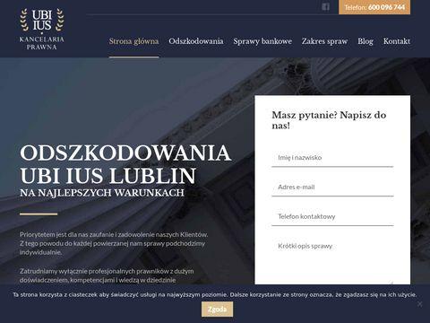 Kancelaria Odszkodowawcza UBI IUS | odszkodowania Lublin
