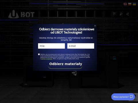 Drukarki 3D na zamówienie - ubot3d.pl