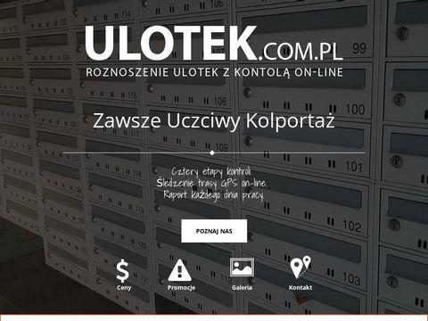 Roznoszenie ulotek - kolporta偶 materia艂贸w reklamowych WARSZAWA