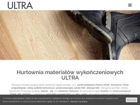 Ultra - panele podłogowe, elewacyjne - siding - Kraków, Myślenice