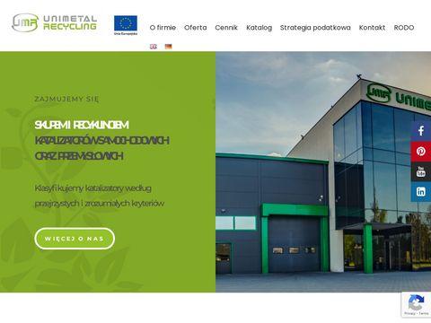 Skup Katalizatorów - Unimetal Recycling