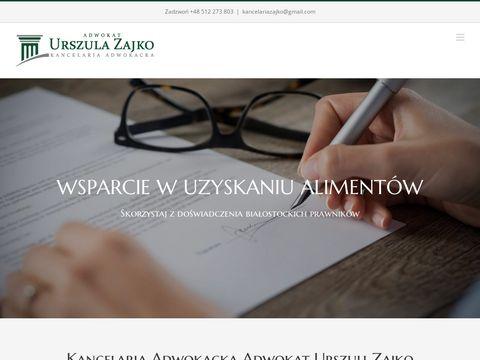 Kancelaria Adwokacka adw. Urszula Zajko Białystok