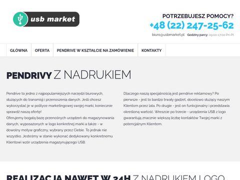 Pendrivy z nadrukiem logo z szybkÄ… realizacjÄ…. Polska podukcja - USB Market