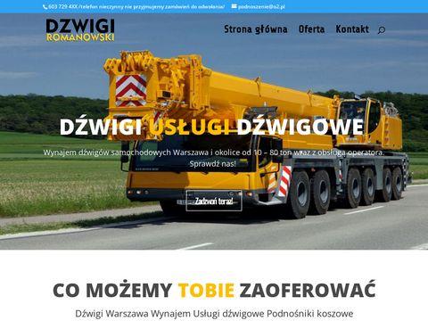 Dźwigi Żurawie Usługi Dźwigowe Warszawa