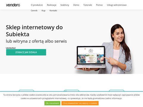 Vendero - sklep internetowy dla Subiekta, firmowy serwis www, witryna