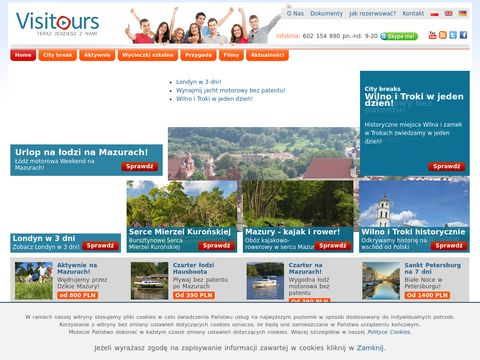 """Biuro Turystyczne """"Visitours"""" Turystyka Aktywna"""