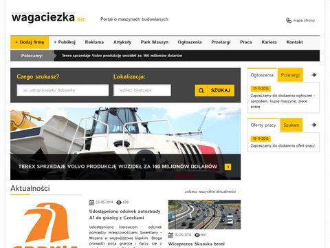 Wagaciezka.biz - maszyny budowlane, roboty ziemne, drogowe, wyburzenia