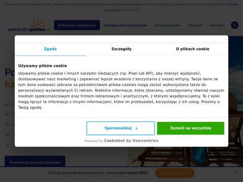 Porównywarka ubezpieczeń turystycznych wakacyjnapolisa.pl