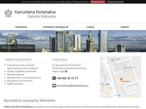 Kancelaria notarialna Gabriela Walewska Warszawa