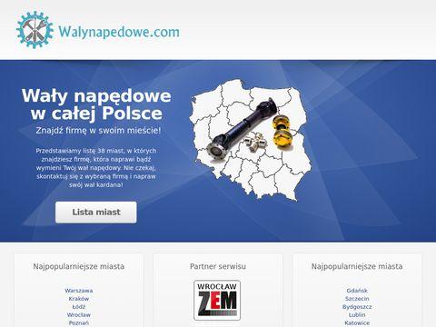 Regeneracja wałów napędowych w całej Polsce