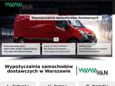 Wypożyczalnia samochodów dostawczych Warszawa | WawaVan