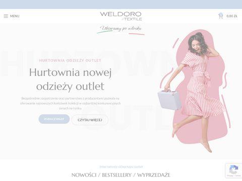 Weldoro.com hurtownia odzie偶y outletowej