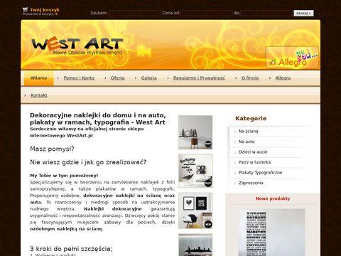 WestAr t - Naklejki do wn臋trz, sklep internetowy