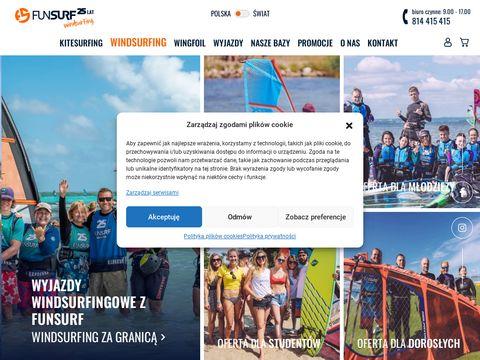 FunSurf – windsurfing, kitesurfing – najlepsza szkoła, wymarzone kursy i obozy