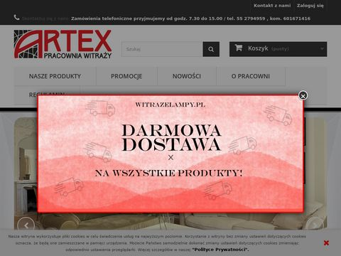 ARTEX Pracownia Witraży- lampy witrażowe, witraże
