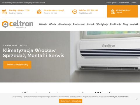 Klimatyzacja Wroc艂aw - Monta偶 i Serwis