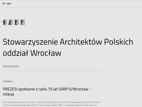 SARP - Oddzia艂u Wroc艂aw
