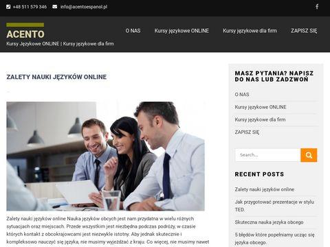 Szkolenia językowe dla firm | Angielski, Hiszpański