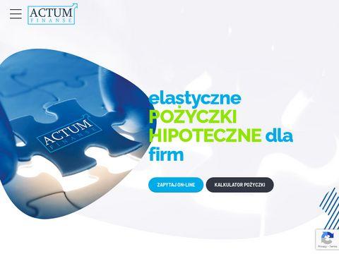 Pożyczki nieruchomość actum-finanse.pl