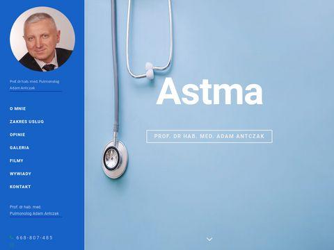 Adam Antczak -> Astma �ódź