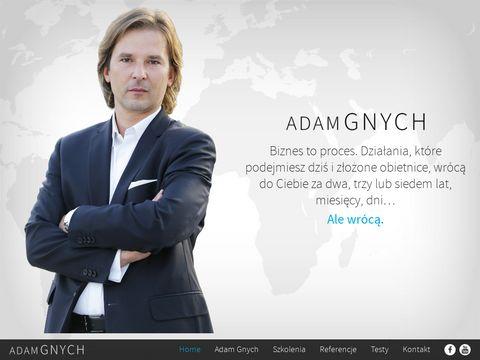 Adam Gnych. Szkolenia NLP, biznesowe, rozwojowe. Testy psychologiczne ONLINE.