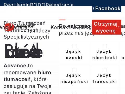 Advance Biuro Tłumaczeń Specjalistycznych