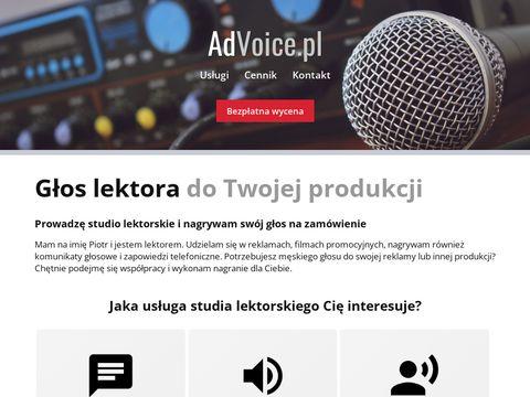 AdVoice.pl Nagrania Lektorskie